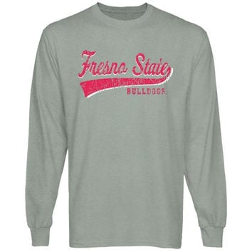 Fresno State Bulldogs All-American Primary Long Sleeve T-Shirt - Ash