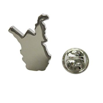 West Virginia State Map Shape Lapel Pin
