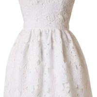 Sweetheart Cut Out Dress