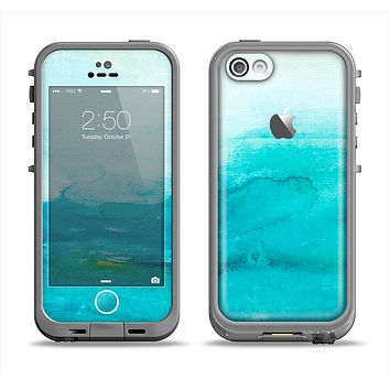 The Grungy Blue Watercolor Surface Apple iPhone 5c LifeProof Fre Case Skin Set
