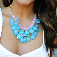 Mini Teardrops Necklace: Blue/Pink | Hope's