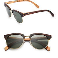 Shwood: Eugene Wood & Metal Round Sunglasses