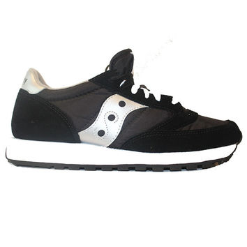 Saucony Mens Jazz Originals - Black/Silver Suede/Mesh Running Sneaker