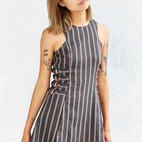 J.O.A. Striped Side-Buckle Dress - Urban Outfitters