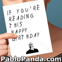 Funny Birthday Card | Drake Card | Hotline Bling | Funny Card | Greeting Card | Happy Birthday Card | Boyfriend Birthday Card | Drizzy OVO