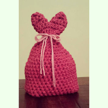 Kids Valentines Day Hat Red and Pink crochet Infant Toddler Kids Custom