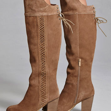 Sbicca Suede Lace-Up Boots