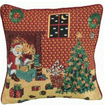 Tache Festive Holiday Last Minute Preparations Cushion Cover