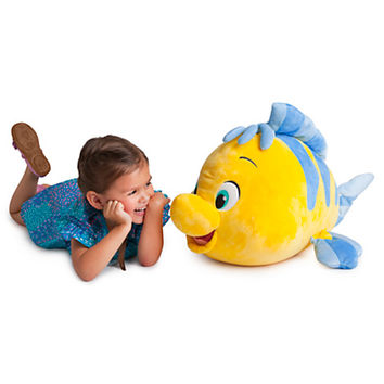 Disney Flounder Plush - 23'' L - The Little Mermaid | Disney Store