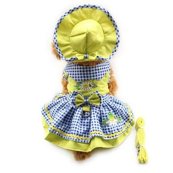 Flower Pattern Dog Princess Dress