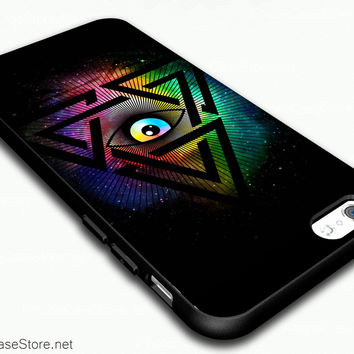 Illuminati All Seeing Eye Galaxy Darkness Symbol Case Cover For iPhone 6 / iPhone 6 Plus