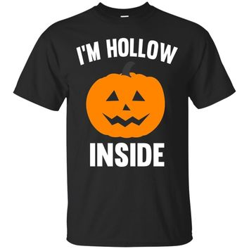 Halloween Pumpkin T-Shirt I'm Hollow Inside Halloween
