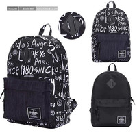 College On Sale Stylish Comfort Hot Deal Back To School Alphabet Casual Backpack [10507735303]