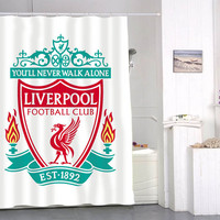 Liverpool Logo Shower Curtain special custom shower curtains that will make your bathroom adorable