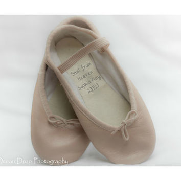 New baby gift, New baby keepsake, New baby girl, Personalized new baby gift, Unique keepsake, Baby keepsake, Ballet shoes, Baby girl