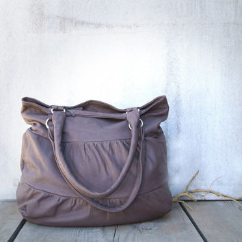 Truffle in Elephant Gray / Gray Leather Bag / Leather Shoulder Bag / Leather Tote / Slouch Bag / Large Tote Bag / Leather Bag / Tote Bag