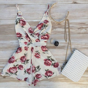 Printed Sleeveless Bodysuit Feminino Playsuit = 1838945988