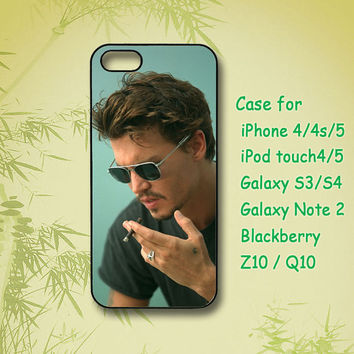 johnny depp, Samsung Galaxy S4, Samsung Galaxy S3, Samsung note 2, blackberry z10, Q10,iPhone 5 Case, iPhone 4S Case,ipod case,