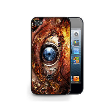 Steampunk Gear Eyes iPhone 4 4S / iPhone 5 Hard Case Cover