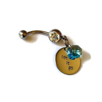 Frozen Inspired - Let It Go Belly Ring w/Swarovski Elements Crystal