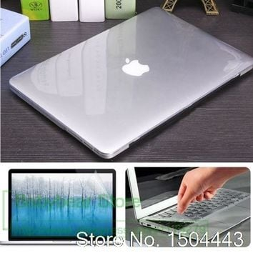 3in1 Beautiful Laptop Case For NEW MacBook Pro 13 15 inch with Touch Bar Oct 2016 Release +keyboard cover +Screen Protector