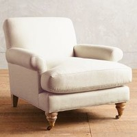 Belgian Linen Willoughby Chair, Wilcox by Anthropologie
