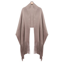Women Winter Scarf Solid Designer Basic Shawls Wraps Women's Scarves Tassel Stole Neck Long Scarf Tippet Scarf Female