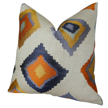 Plutus Native Trail Cayenne Handmade Throw Pillow