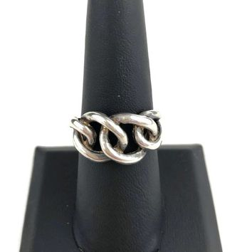 42f3061d1e3bfe Sterling Silver Industrial Chain Ring Size 8, Biker Ring, Motorc