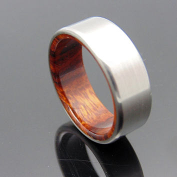 Titanium and wood ring Arizona desert Ironwood