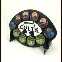Indianapolis Colts Football 10 K Cup Holder and Coffee Pod Display