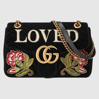 Gucci GG Marmont medium velvet bag