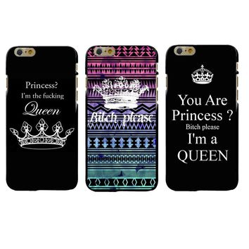 Bitch Please I am a Queen Protective Case For Apple iPhone X 5 5S SE 6 6S 7 8 Plus Hard Plastic Smart Phone Cover Coque Shell