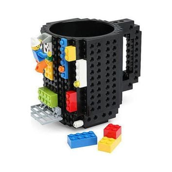 Creative toys Drinkware Building Blocks Mugs DIY Block Puzzle Mug 1Piece Build-On Brick creative Mug Type Coffee Cup