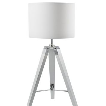 "Euro Style Collection Ossa 30"" Tripod Table Lamp-White"