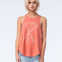 O'neill Wandering Hearts Womens Tank Coral  In Sizes