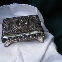 Vintage Silver Box for Trinkets or Jewelry by GSArcheologist