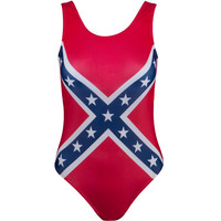 Rebel Flag One Piece Bathing Suit