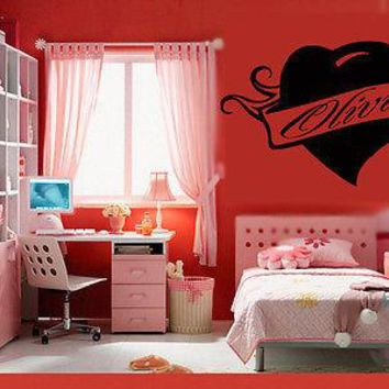 Wall Stickers Vinyl Decal Olivia Personalized Name Lettering Custom Unique Gift z992