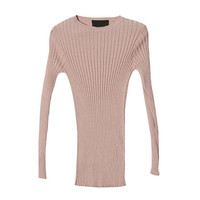 Stretch Ribbed Sweater (Pink) | STYLENANDA