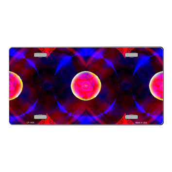 Smart Blonde Red And Purple Nova Customizable Vanity Metal Novelty License Plate Tag Sign