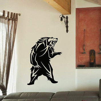 WALL DECAL VINYL STICKER PREDATOR ANIMAL BEAR WILD DECOR SB852