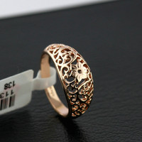 Italian Hollow Out Flower Ring