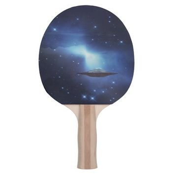 UFO alien galaxies space Ping Pong Paddle