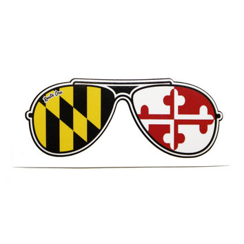 Maryland Flag Aviator Shades / Sticker