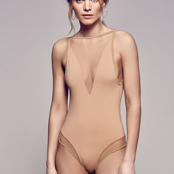 Bakcless One Piece Mesh Swimsuit