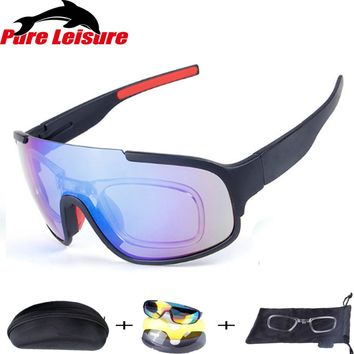 PureLeisure 1 Set 3 Lens Zonnebril Clip Polarized Fishing Sunglasses Outdoor Sports Fishing Eyewear Driving Polarized Glasses