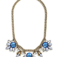 ModCloth Statement Every Now and Gem Necklace in Grey