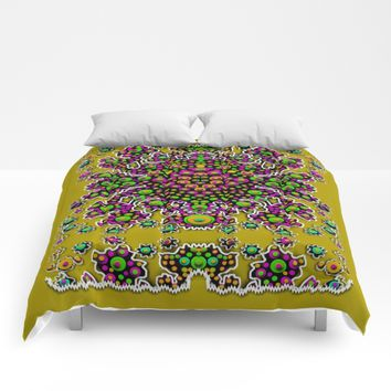 Fantasy flower peacock Mermaid with some soul in popart Comforters by Pepita Selles