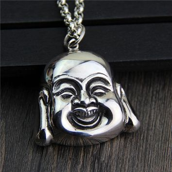 Silver Jewelry S925 Sterling Silver Buddha Necklace